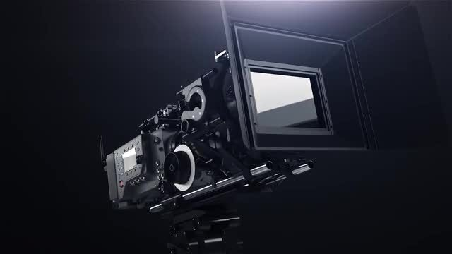 Close Up Shot Of A Professional Camera On A Tripod: Stock Motion Graphics