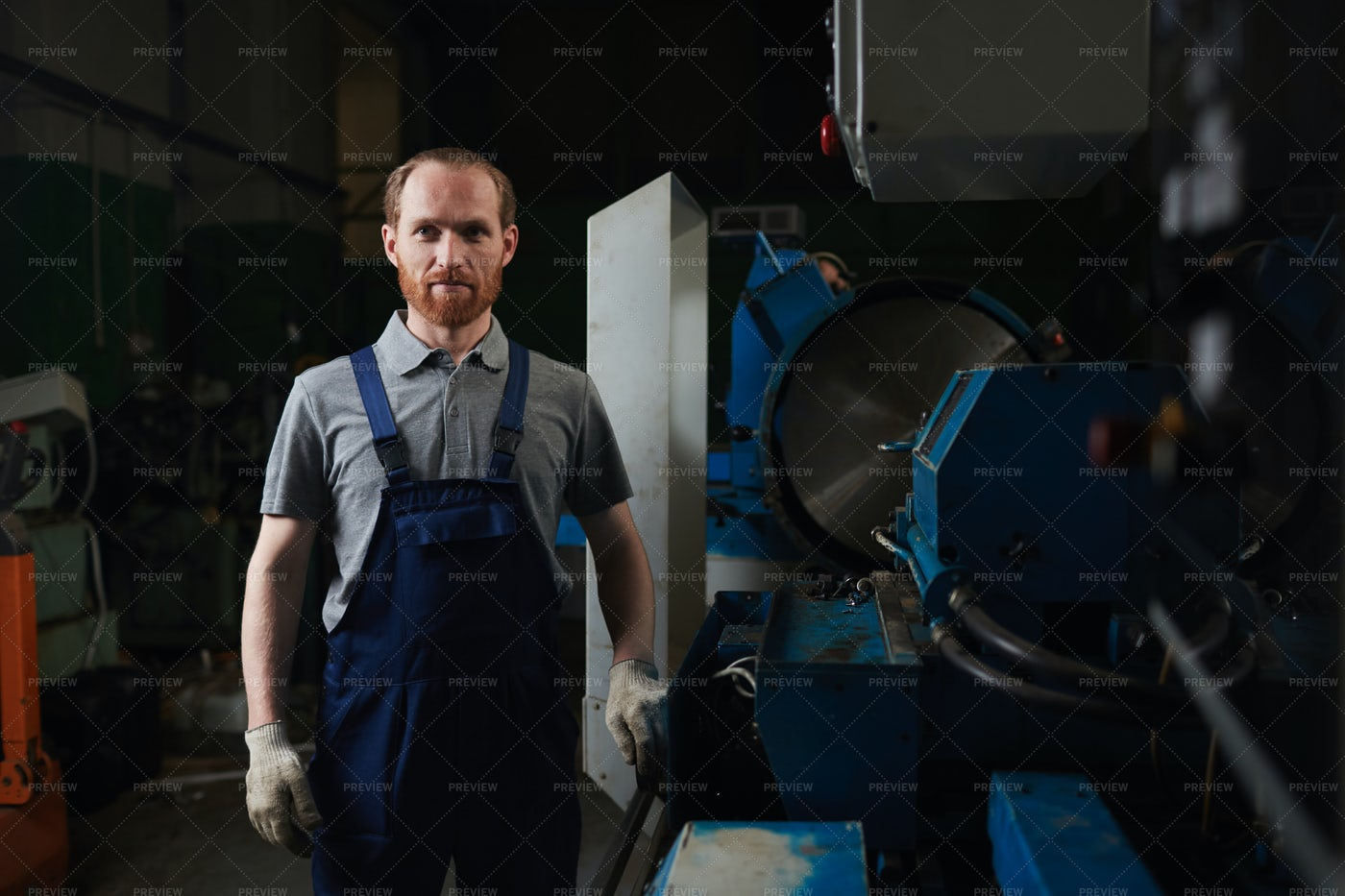 Technician In The Factory: Stock Photos