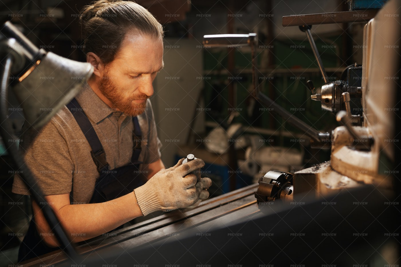 Mechanic Working In The Factory: Stock Photos