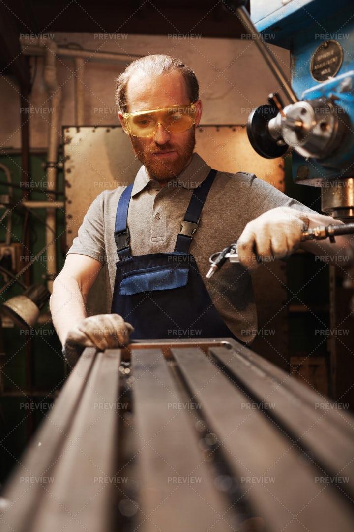 Working In A Metal Factory: Stock Photos