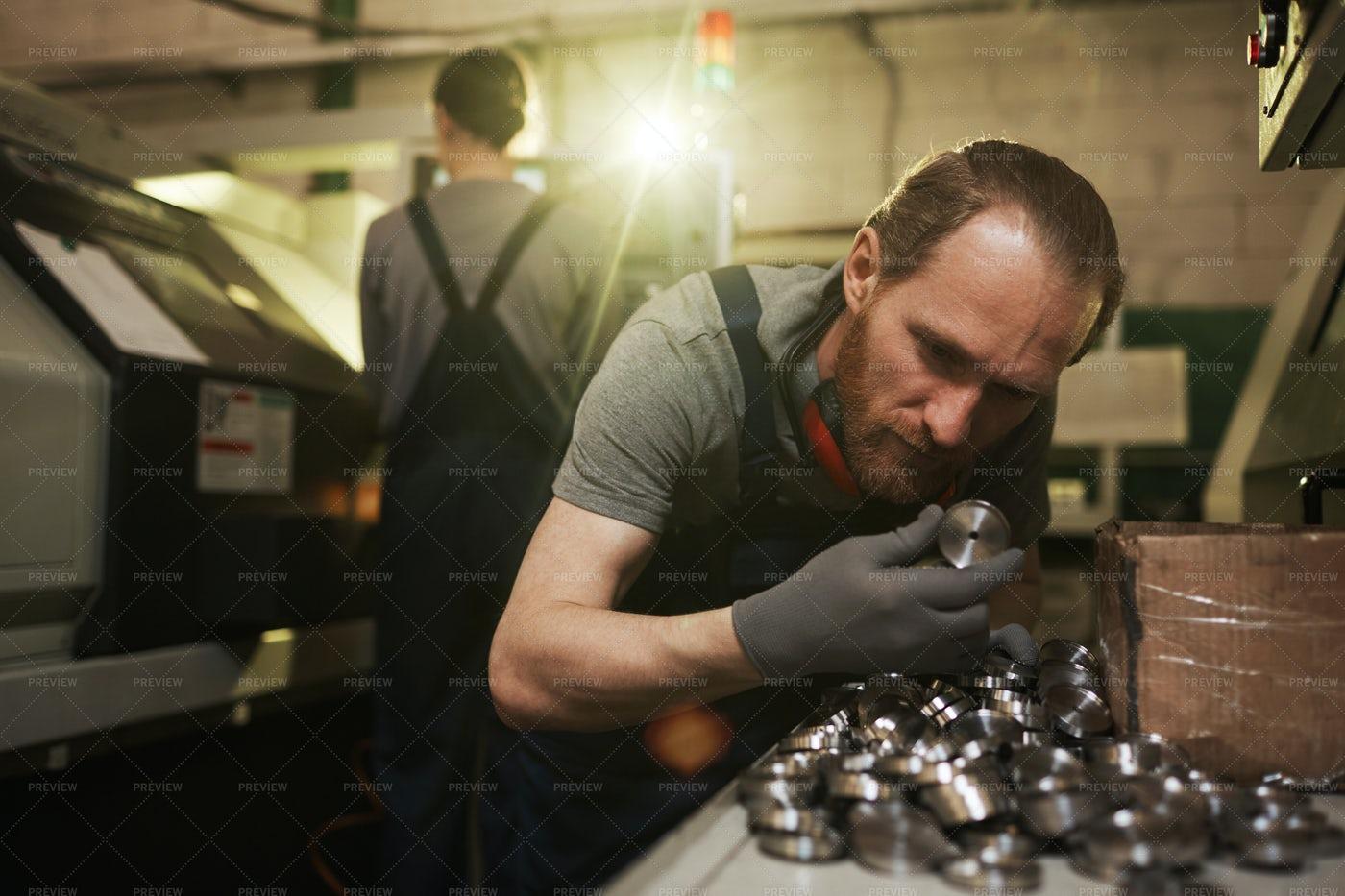 Checking The Metal Parts: Stock Photos