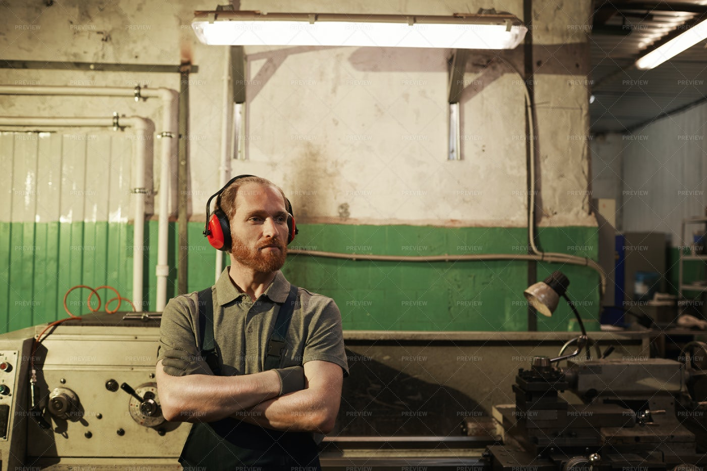 Mechanic In The Warehouse: Stock Photos
