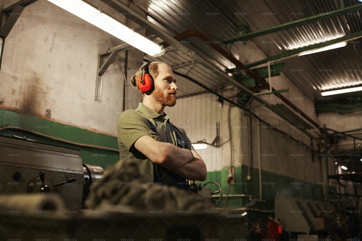 A Factory Worker: Stock Photos