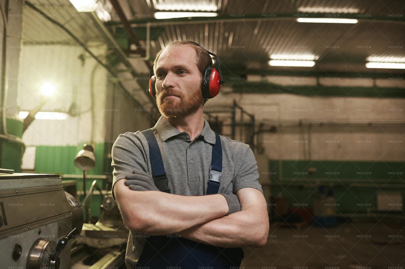 A Factory Worker Portrait: Stock Photos