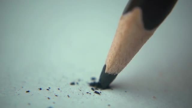 Tip Of A Pencil Breaking: Stock Video