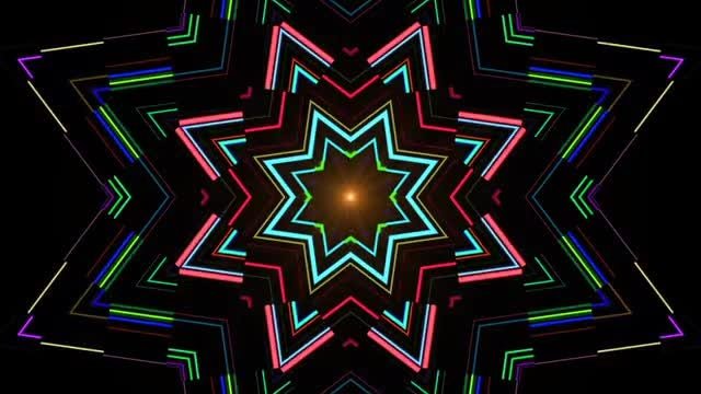 Neon Flowers: Stock Motion Graphics