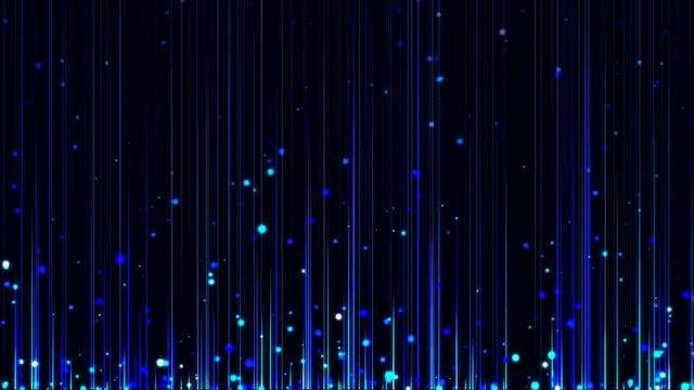 Particles Rain. Blue & Gold Particles: Stock Motion Graphics