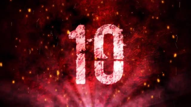 Red Grunge Countdown: Stock Motion Graphics