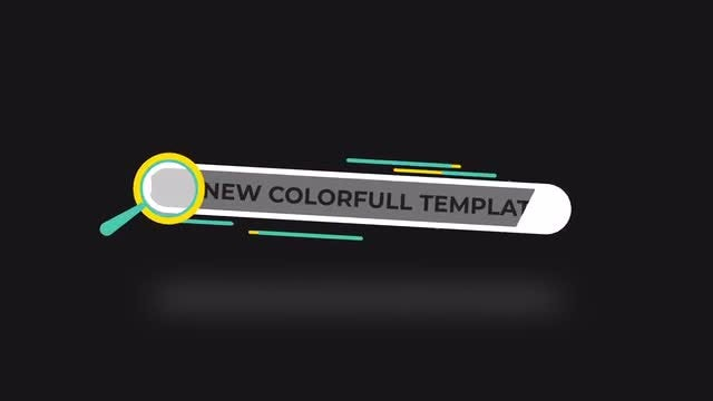 Colorful Search Logo: After Effects Templates