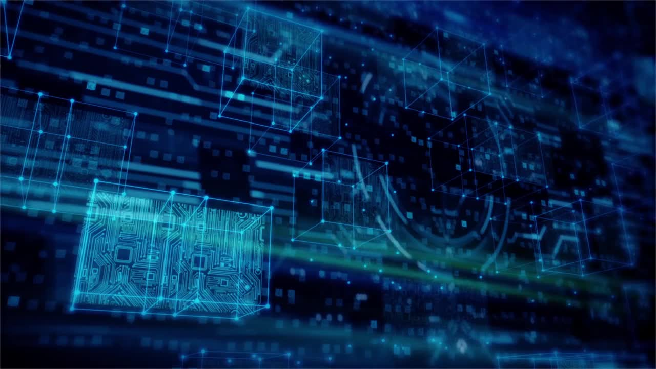 High Tech Chip Screen Animated Background Stock Motion Graphics Motion Array