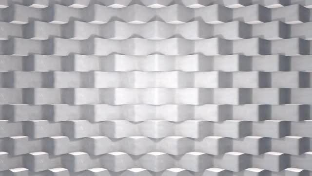 White Wavy Concrete Tiles: Stock Motion Graphics