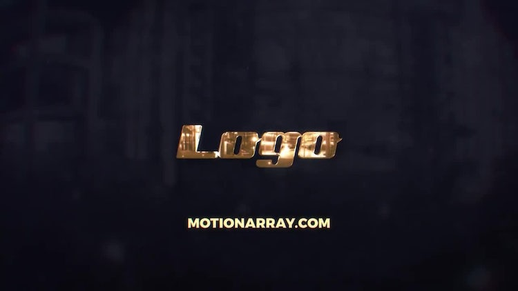 Golden Reflection Logo: After Effects Templates