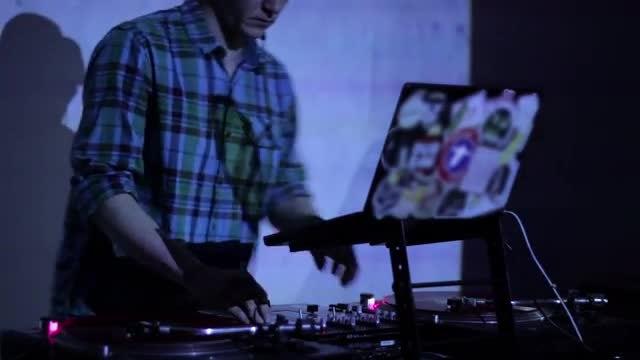 DJ Playing Music In Nightclub : Stock Video