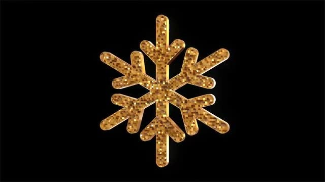 Gold Sparkle Snowflake Pack: Stock Motion Graphics