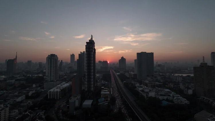 Time Lapse Of Bangkok Thailand: Stock Video