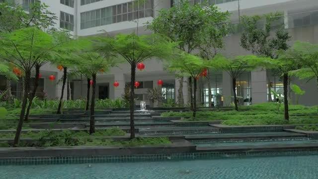 Tilt Shot Of Fancy Building: Stock Video