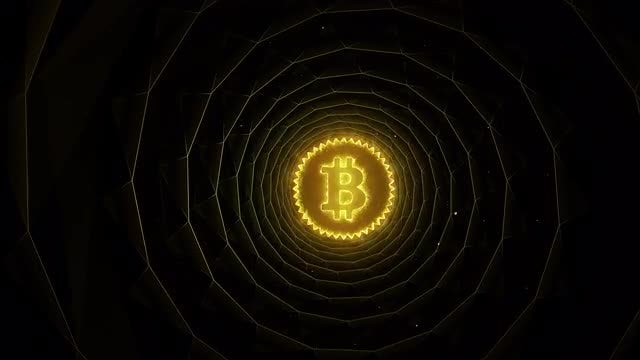 Bitcoin In Underground Tunnel: Stock Motion Graphics