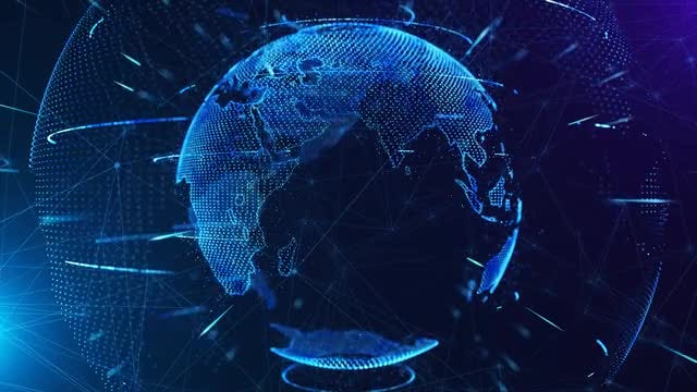 Globe Communication Looped Background: Stock Motion Graphics
