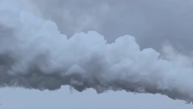 Thick Grey Smoke In Air: Stock Video