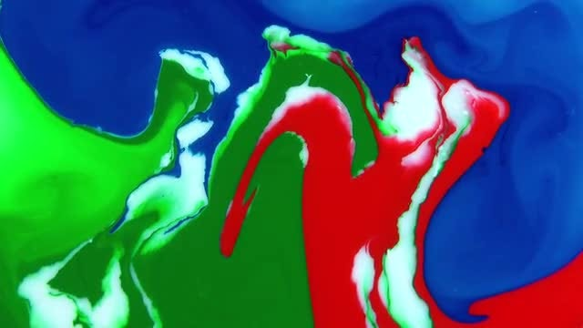 Texture Design Of Colored Paints: Stock Video