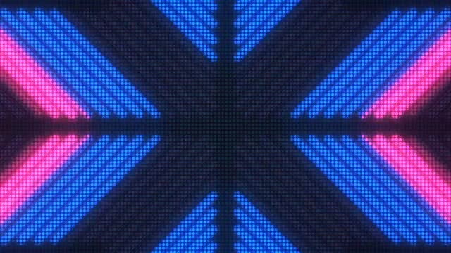 Pink-Blue Disco LED Background: Stock Motion Graphics