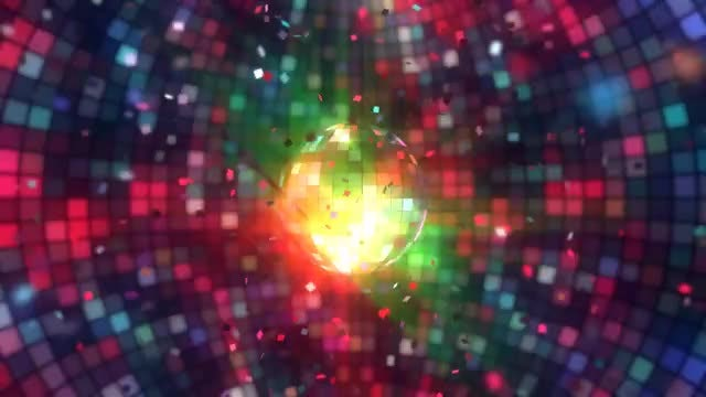 Disco Ball With Confetti: Stock Motion Graphics