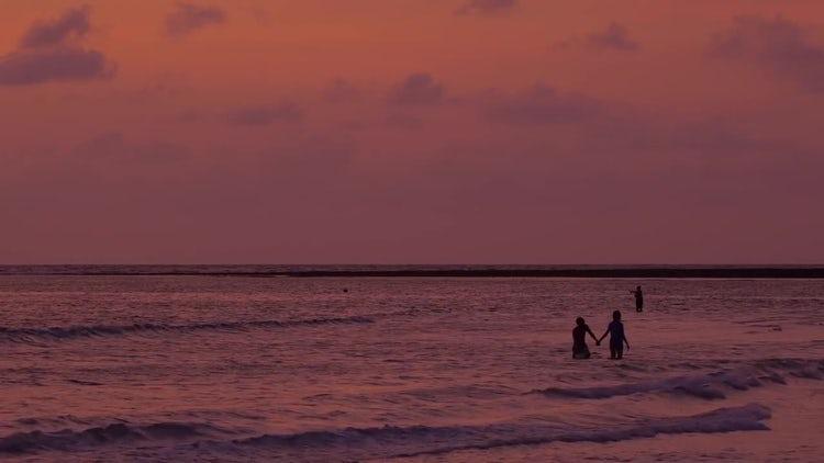 People In The Ocean: Stock Video