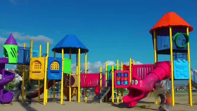 Time Lapse Of Children Playground : Stock Video