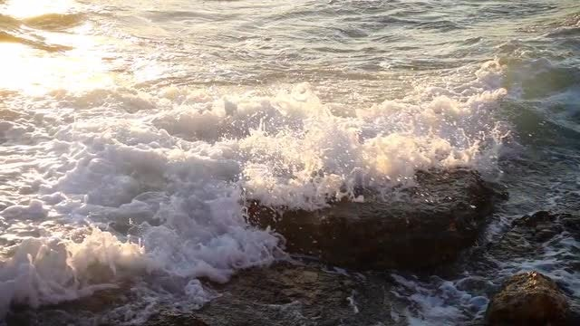Sea Waves And Rocks Pack: Stock Video