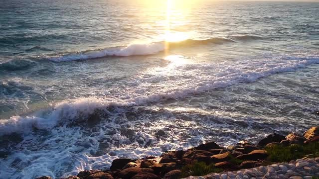 Sea Waves And Rocks Pack 2: Stock Video