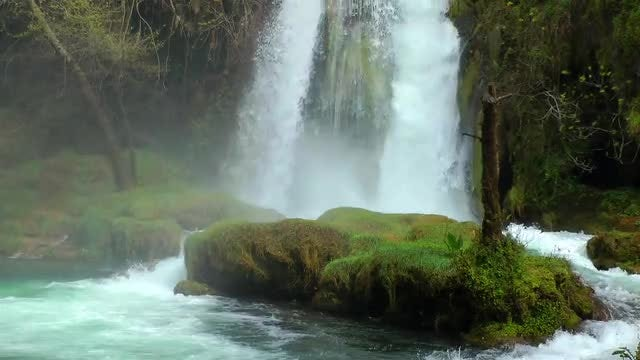 Amazing View Of Natural Waterfall : Stock Video