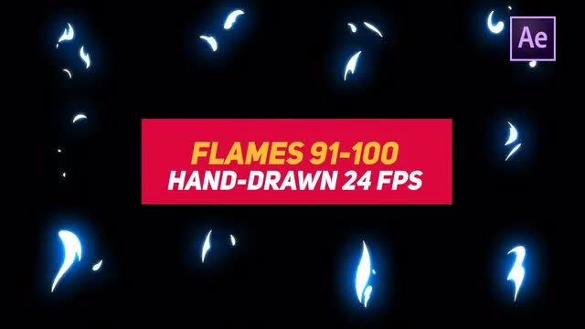 Liquid Elements 2 Flames 91-100: After Effects Templates