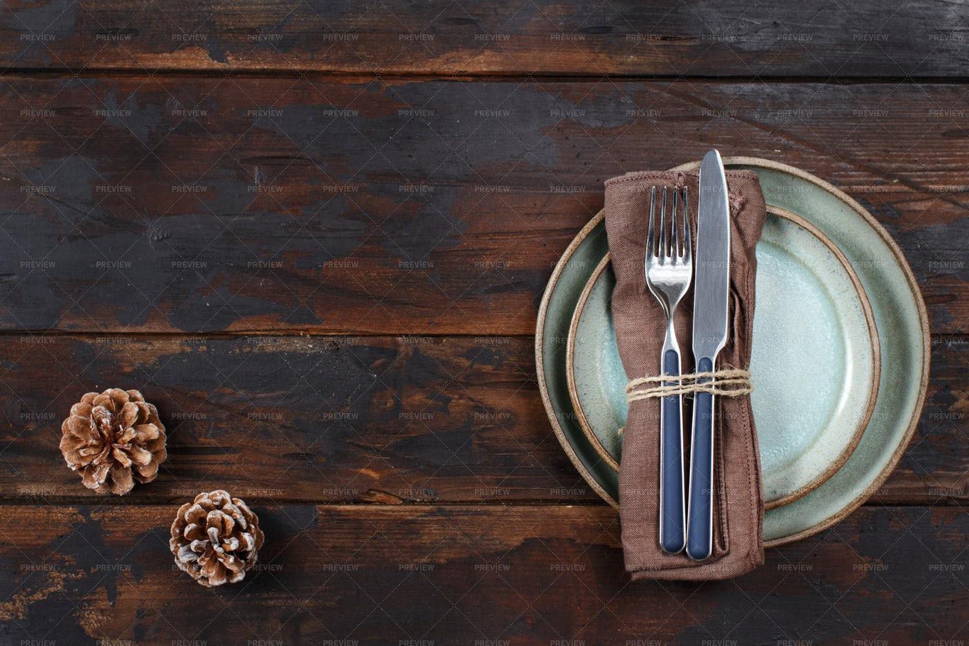 Festive Table Place: Stock Photos