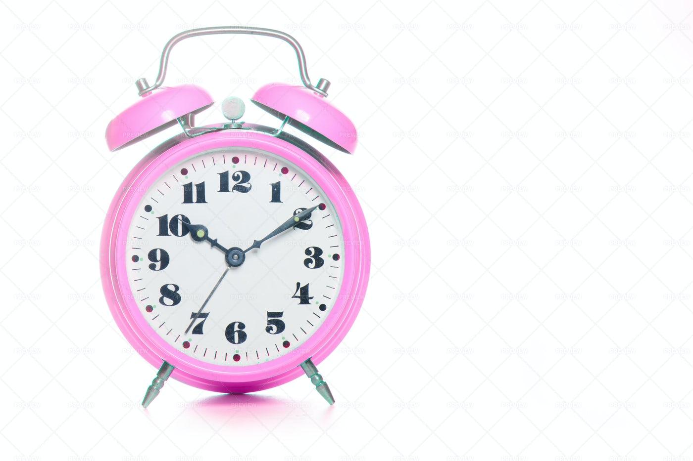 Pink Alarm Clock: Stock Photos