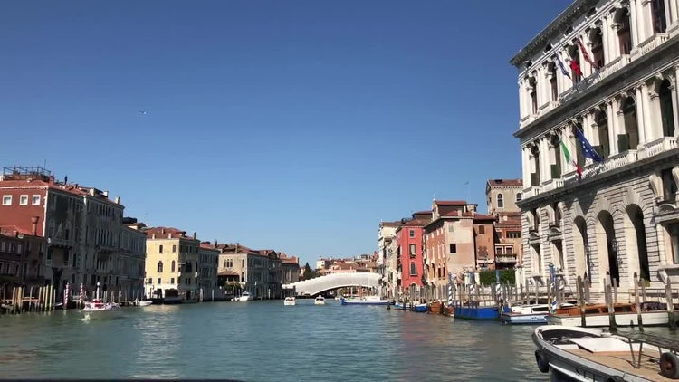 Riding Through Grand Canal, Venice: Stock Video