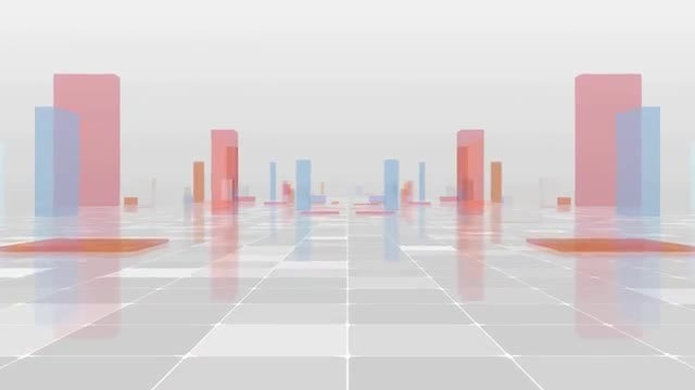 Colorful Glass Cubes: Stock Motion Graphics