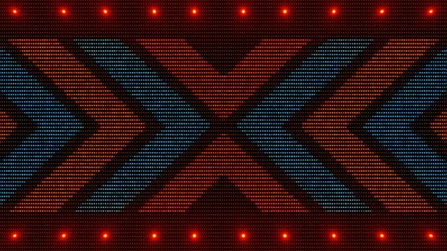 Blue-Red X Disco LED : Stock Motion Graphics
