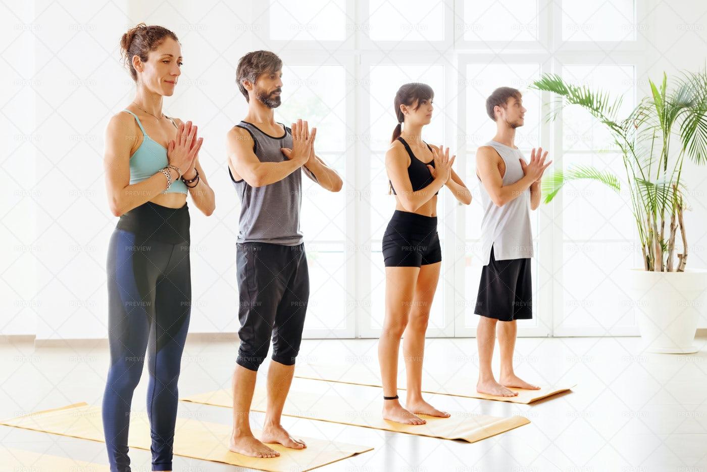 People Practicing Yoga: Stock Photos