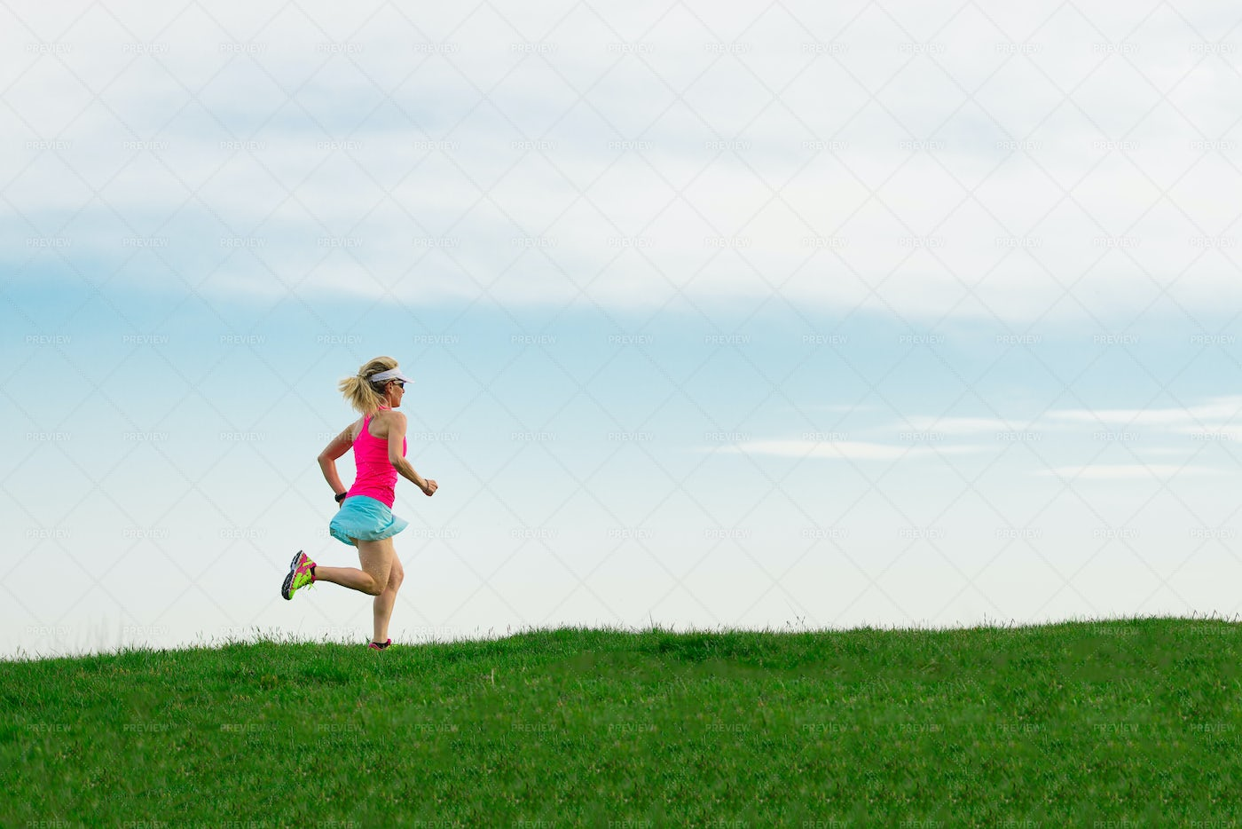 Running In The Meadow: Stock Photos