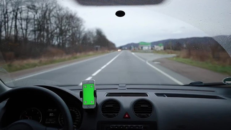Smartphone In A Moving Car: Stock Video