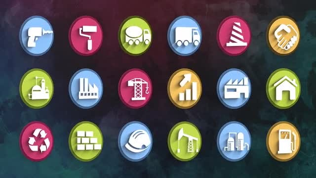 Ultimate Construction Icons Pack: Stock Motion Graphics