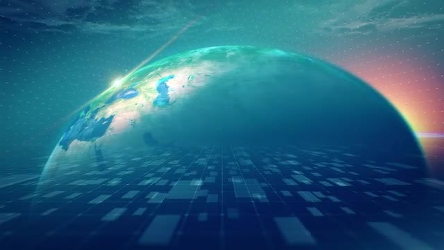 Blue Green Background Globe loop 60sec: Stock Motion Graphics