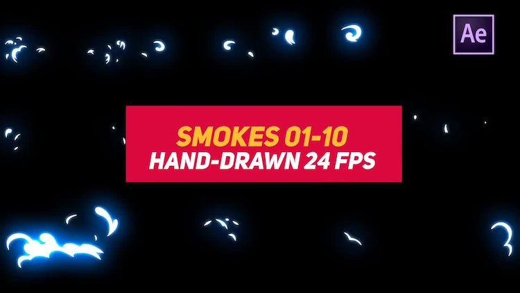Liquid Elements 2 Smokes 01-10: After Effects Templates