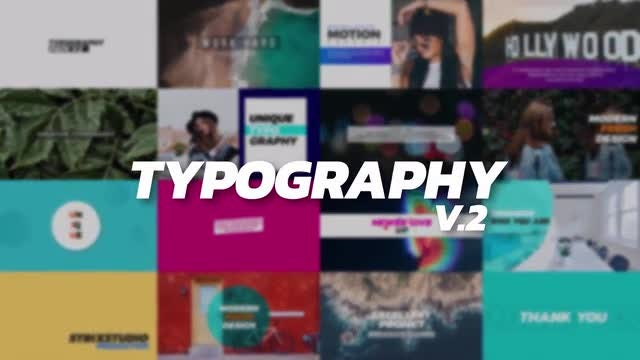 Typography V.2: After Effects Templates
