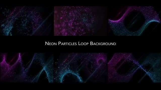 Neon Particles Pack: Stock Motion Graphics