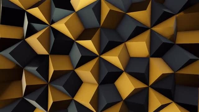 Black and Gold Rhombic Pattern Wall 1: Stock Motion Graphics