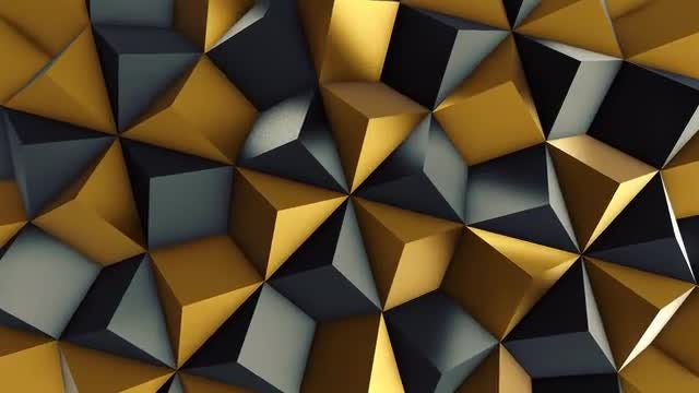 Black and Gold Rhombic Pattern Wall 2: Stock Motion Graphics