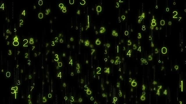 Number Codes Background: Stock Motion Graphics