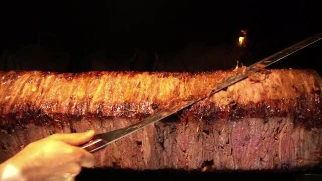 Traditional Turkish Beef Doner Kebab : Stock Video