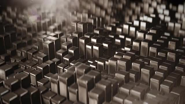 Waves Of Metal Prisms: Stock Motion Graphics
